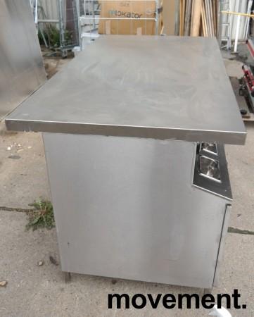 Arbeidsbenk med koppholdere i rustfritt stål, 170x90cm, pent brukt bilde 5