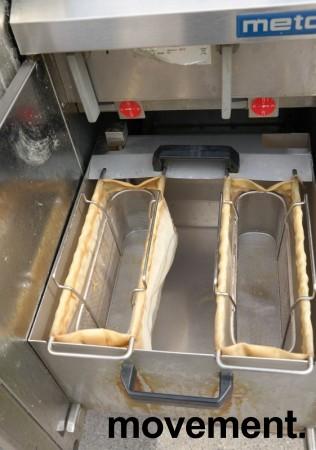 Metos FSP-D frityrkoker med stativ, 2 kammer, 400V 3fas, 40cm bredde, pent brukt bilde 4