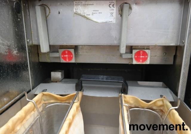 Metos FSP-D frityrkoker med stativ, 2 kammer, 400V 3fas, 40cm bredde, pent brukt bilde 5
