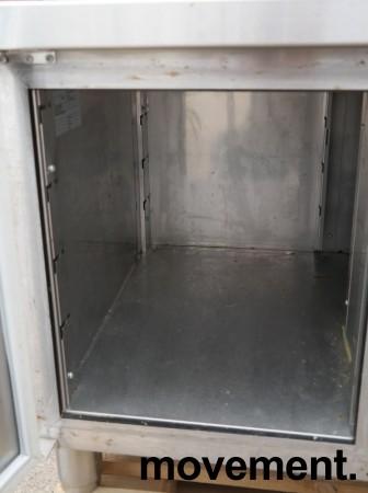 Kjølebenk fra Porkka i rustfritt stål med kjøledør og 2 kjøleskuffer, 126cm bredde, 64cm høyde, pent brukt bilde 3
