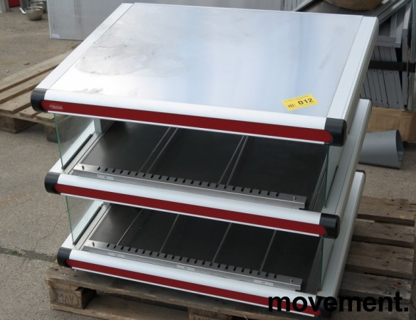 Salgsmonter / varmedisplay / varmer for ferdige hamburgere / fastfood fra Hatco, bredde 92cm, pent brukt bilde 7