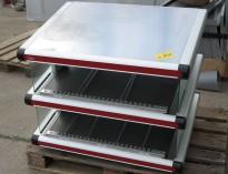 Salgsmonter / varmedisplay / varmer for ferdige hamburgere / fastfood fra Hatco, bredde 92cm, pent brukt