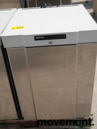 Underbenk kjøleskap i rustfritt stål fra Gram, modell K210RG3N, 60cm bredde, 84cm høyde, pent brukt bilde 1