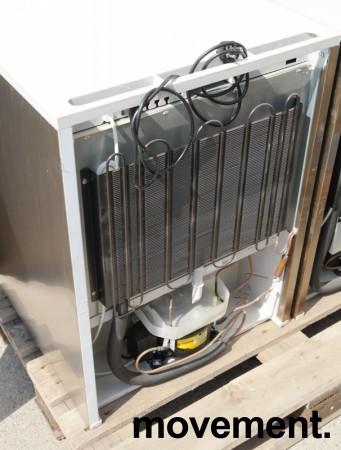 Underbenk kjøleskap i rustfritt stål fra Gram, modell K210RG3N, 60cm bredde, 84cm høyde, pent brukt bilde 3