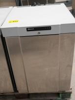 Underbenk kjøleskap i rustfritt stål fra Gram, modell K210RG3N, 60cm bredde, 84cm høyde, pent brukt