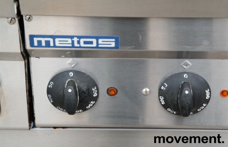 Metos steketopp / flatgrill / stekeplate, elektrisk, 2 stk på vogn, 400V, bredde 140cm, pent brukt bilde 7