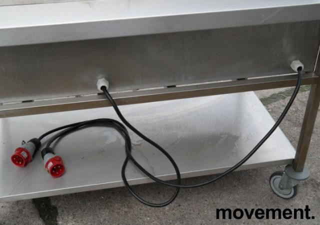 Metos steketopp / flatgrill / stekeplate, elektrisk, 2 stk på vogn, 400V, bredde 140cm, pent brukt bilde 4