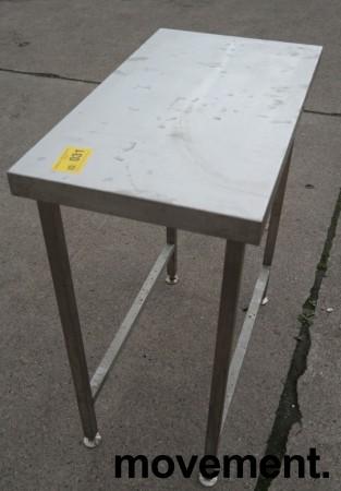 Liten arbeidsbenk i rustfritt stål, 80x45cm, pent brukt bilde 2