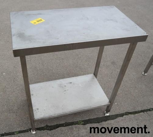 Liten arbeidsbenk i rustfritt stål, 80x45cm, pent brukt bilde 3