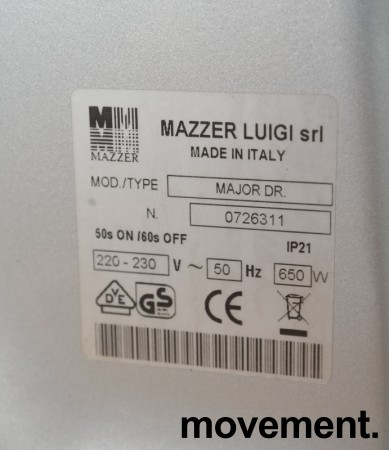 Posekvern / Kaffekvern: Mazzer Luigi Major DR, pent brukt bilde 5