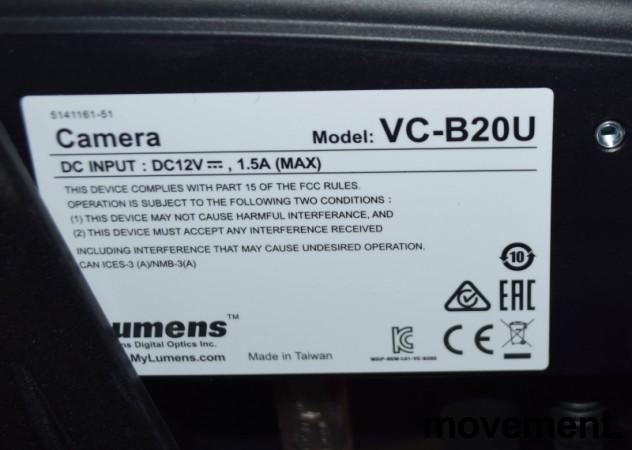 Lumens VC-B20U, 1080p-kamera for Skype, USB3.0, pent brukt bilde 3