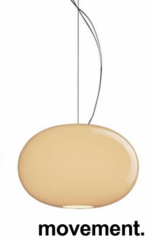 Taklampe / Pendellampe fra Foscarini, modell Buds 2, Ø=42cm, beige glass, Design: R. Dordoni, pent brukt bilde 1
