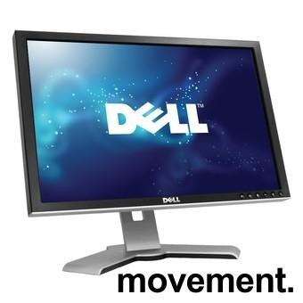 Flatskjerm til PC: Dell 2009Wt, 20toms, 1650x1050, VGA/DVI, USB-hub, pent bruk