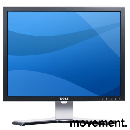 Dell Ultrasharp 20toms flatskjerm til PC, 2007FPb, 1600x1200, VGA/DVI/Video Inn, pent brukt