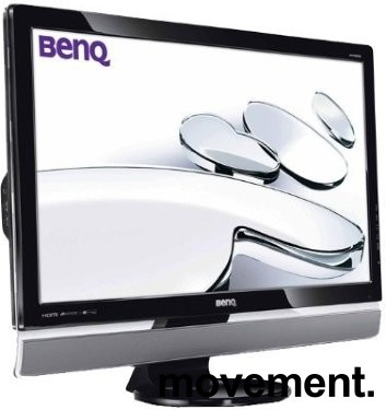 Benq 27toms flatskjerm til PC, M2700HD, Full HD, VGA/DVI/HDMI/Komponent/USB, Pent brukt