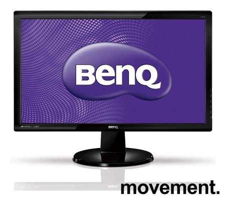 Flatskjerm til PC: Benq GL2450-B, 1920x1080 FULL HD 24toms, VGA/DVI/HDMI/Audio, pent brukt