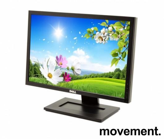 Flatskjerm til PC: Dell E1910f, 19toms, 1440x900 Widescreen, VGA/DVI, pent brukt