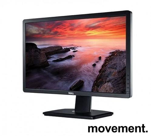 Flatskjerm til PC: Dell U2312HMt, 23toms, 1920x1080, VGA/DVI/DP/USB, LED IPS, pent brukt