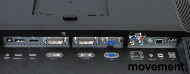 Flatskjerm til PC: Dell 24toms, U2410f, 1920x1200, USB/DVI/DP/HDMI m.fl., pent brukt bilde 2