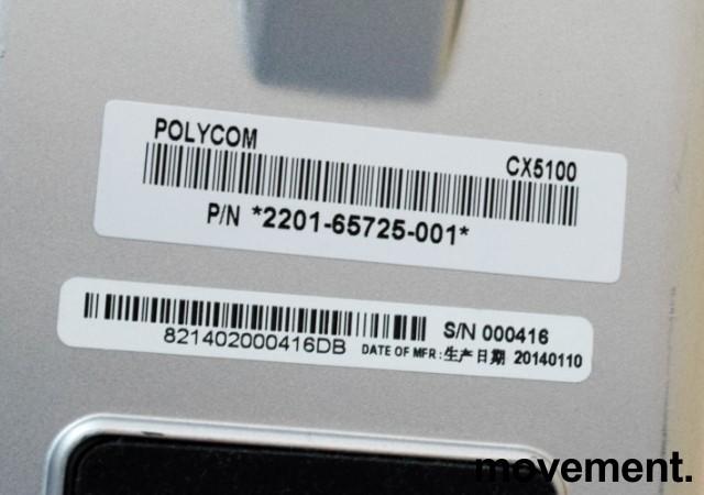 Videokonferanse fra Polycom, modell CX5100 Unified Conference Station, pent brukt bilde 2
