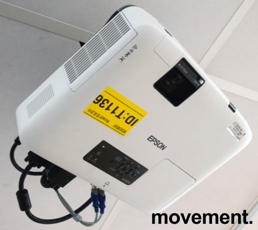 Widescreen-projector, Epson EB-1920W, 1280x800, 4000lumen, pent brukt - 1459 timer på pære bilde 2