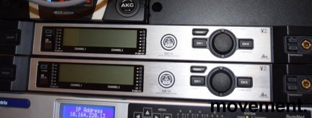 AKG DSR700 v2, 2-kanals digital mottaker for mikrofoner, pent brukt bilde 2