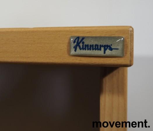 Kinnarps ringpermreol / åpen bokhylle i bøk, 4permhøyder, 164cm h, pent brukt bilde 2