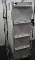 Rosengrens 4 skuffers brannskap / brannsikkert arkivskap, 142cm høyde, grått, pent brukt