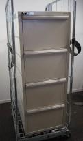 Fossafe 4 skuffers brannskap / brannsikkert arkivskap, 138cm høyde, 120min, grått, pent brukt