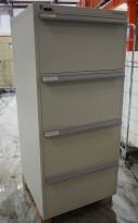 Stort Rosengrens 4 skuffers brannskap / brannsikkert arkivskap, 159cm høyde, grått, pent brukt