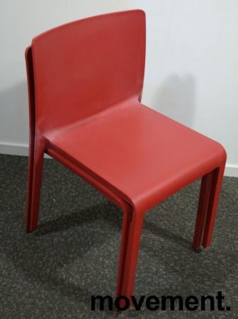 Kafestol / stol for uteservering i rød plat fra Pedrali, modell Volt, pent brukt bilde 3