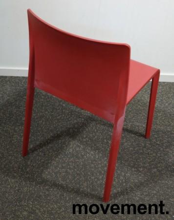 Kafestol / stol for uteservering i rød plat fra Pedrali, modell Volt, pent brukt bilde 2