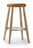 Lekker barkrakk i eik / brunt skinn, Carl Hansen & Søn CH58, Design: Hans J. Wegner, sittehøyde 68cm, pent brukt