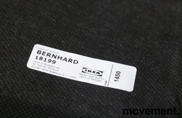 IKEA Bernhard barstol i gult skinn / krom, sittehøtde 67cm, pent brukt bilde 4