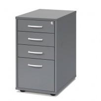 Skuffseksjon i grått fra AJ Produkter, 4skuffer, bredde 40cm, høyde 70cm, ny B-vare