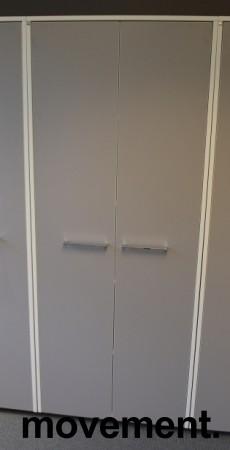 Dencon ringpermreol / skap med dører i hvitt/grått, 5 permhøyder, 199cm høyde, pent brukt bilde 1