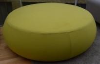 Stor puff / loungemøbel fra Arper i grønt stoff, modell Pix 137, Ø=137cm, pent brukt