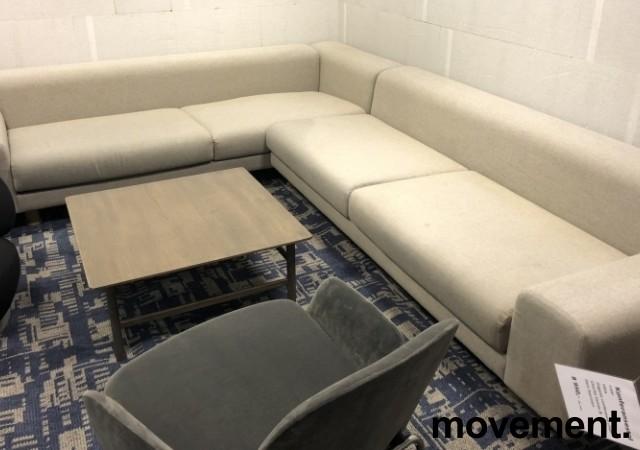 LK Hjelle Design-sofa, hjørne 260x320cm, modell MAN, Design: Norway Says, Grå ull, noe flekker i stoff bilde 6