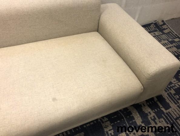 LK Hjelle Design-sofa, hjørne 260x320cm, modell MAN, Design: Norway Says, Grå ull, noe flekker i stoff bilde 3