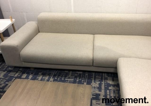 LK Hjelle Design-sofa, hjørne 260x320cm, modell MAN, Design: Norway Says, Grå ull, noe flekker i stoff bilde 4