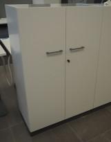 Martela Combo ringpermreol med dører i hvitt, 3H, 126 cm H, pent brukt