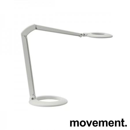Luxo Ovelo LED i hvitt med bordfot, LED-belysning til skrivebordet, lekker designlampe, pent brukt bilde 1