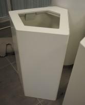 Søppelbøtte / papirkurv / kildesortering for restavfall i hvitt fra Trece, pent brukt