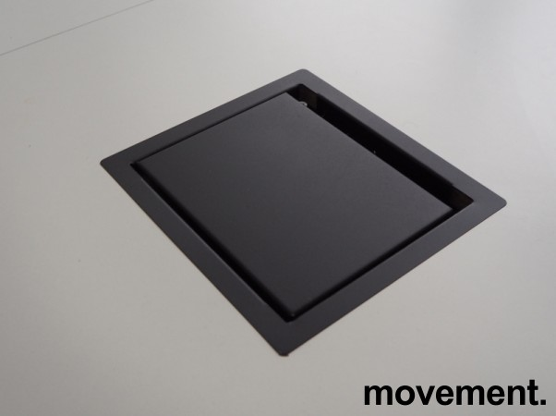 Møtebord / konferansebord i hvitt / krom, 360x140cm, passer 12-14personer, pent brukt bilde 4