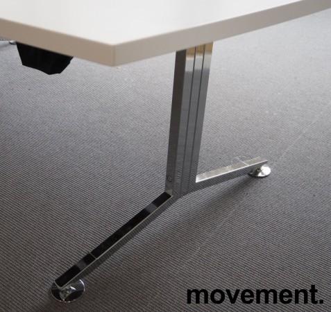 Møtebord / konferansebord i hvitt / krom, 360x140cm, passer 12-14personer, pent brukt bilde 3