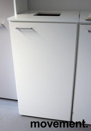 Miljøstasjon / sorteringsstasjon for kontoravfall i hvitt fra Trece, 60cm bredde, pent brukt bilde 2