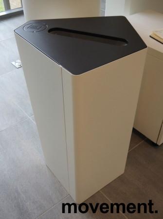 Søppelbøtte / papirkurv / kildesortering for papiravfall i hvitt / grått fra Trece, pent brukt bilde 1