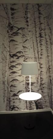 """Northern Lighting, modell Illusion, """"svevende"""" taklampe / pendel i hvitt, pent brukt bilde 2"""