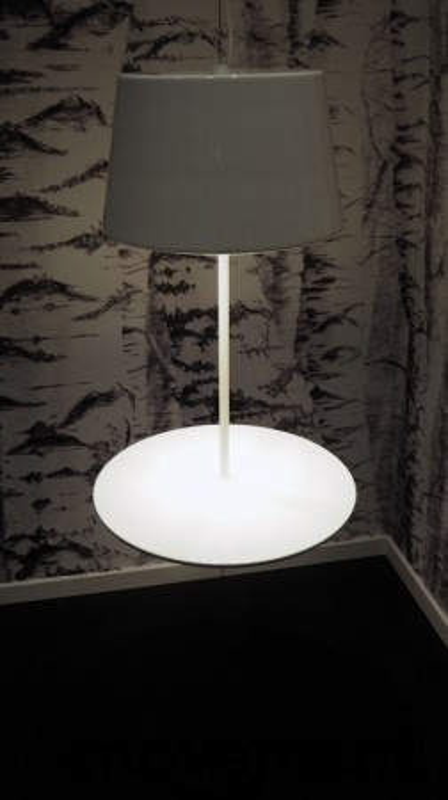 """Northern Lighting, modell Illusion, """"svevende"""" taklampe / pendel i hvitt, pent brukt bilde 3"""