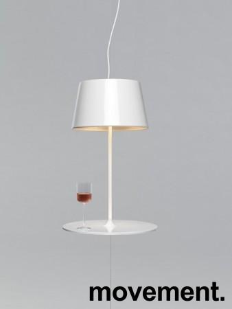 """Northern Lighting, modell Illusion, """"svevende"""" taklampe / pendel i hvitt, pent brukt bilde 1"""